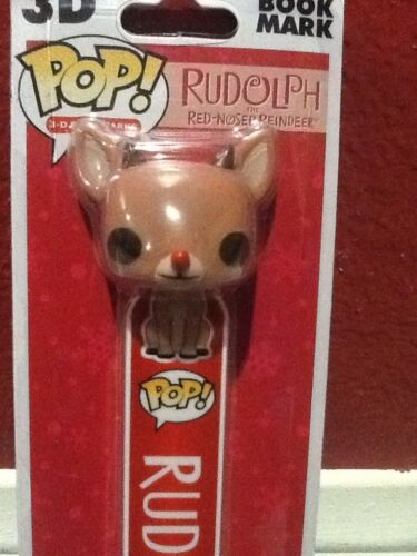 3-D Bookmarks Holiday Rudolph the Red-Nosed Reindeer Vinyl Figure Funko POP