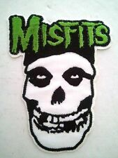 "(C26) MISFITS SKULL 4"" x 3"" iron on patch Punk Skeleton Backpack applique"