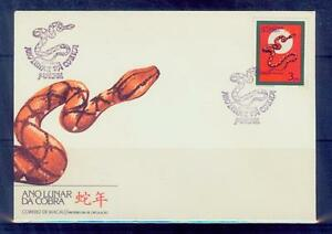 image is loading macau 1989 snake chinese new year fdc mnh - Chinese New Year 1989