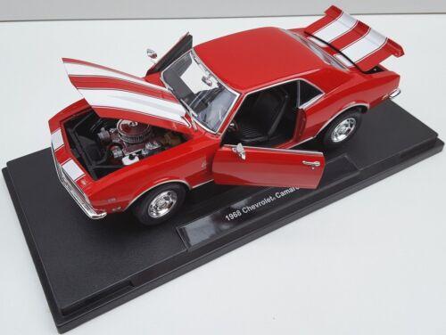 BLITZ VERSAND Chevrolet Camaro Z28 1968 rot red Welly Modell Auto 1:18 NEU OVP