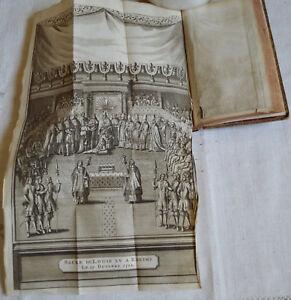 1736 LA VIE DE PHILIPPE D'ORLEANS T2 9 GRAVURES DU SACRE 22 FEVRIER 1722 CUIR BE