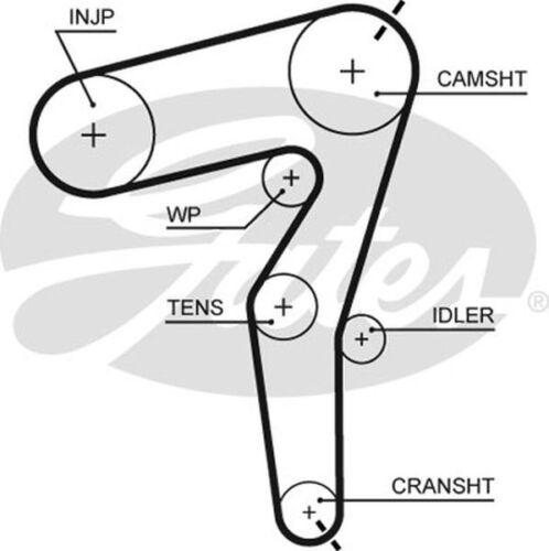 Gates Timing Belt Cam Belt for SAAB 9-3 1.9 CHOICE1//2 TiD Z 19 DT 120bhp