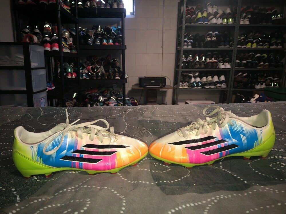 2014 Adidas F10 TRX Messi FG Boys Youth Soccer Cleats Size 5 Multi color