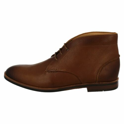 Mens Clarks Broyd Mid Smart Tan Leather Lace Up Boots G Fitting