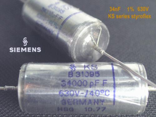1/% Styroflex SIEMENS KS-Series Audio Grade ! x 2 PIECES 34nF 630V