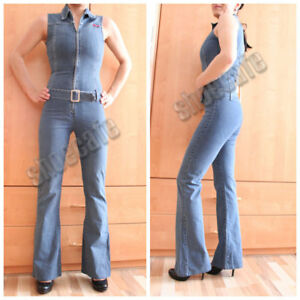 Jeansoverall-Gr-34-Only-Jeanscatsuit-Jumpsuit-stretch-aermellos-394