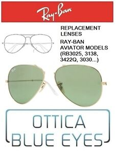 Ray Lenti 14 Models Di Ban Rb3025 Replacement Rayban Lenses Ricambio Aviator Tx0qgTr
