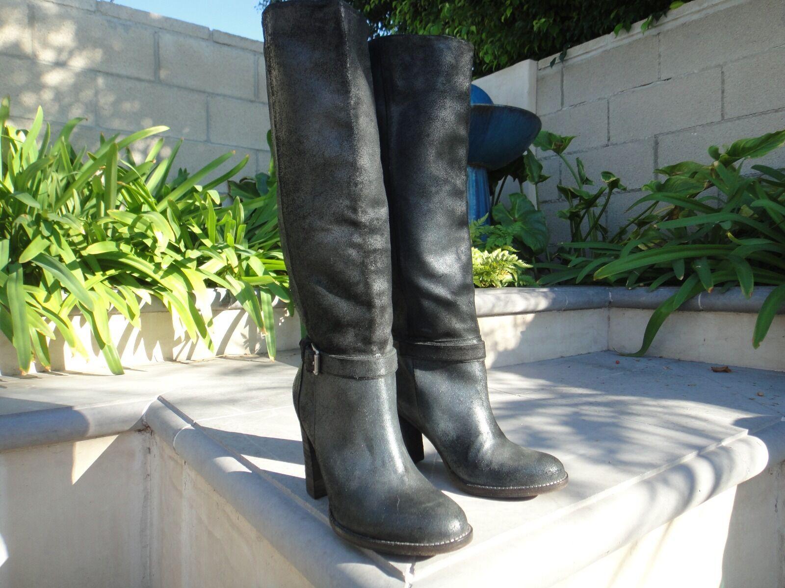 BELLE SIGERSON MORRISON HAYLEY Nero Suede Donna Designer Knee High Stivali 7.5M