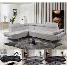 Divano angolare soggiorno sofà destro o sinistro pelle microfibra salotto |5