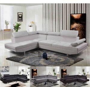 Divano Angolare Soggiorno.Dettagli Su Divano Angolare Soggiorno Sofa Destro O Sinistro Pelle Microfibra Salotto 5