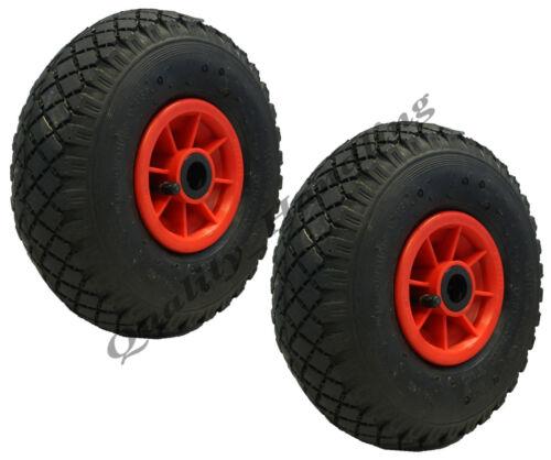 """Rolllager 2 Stk x 10/"""" 260x85mm Räder mit Luftreifen Wagen Handwagen"""