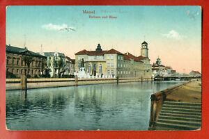 GERMANY-EAST-PRUSSIA-MEMEL-LITHUANIA-KLAIPEDA-VINTAGE-POSTCARD-USED-1916