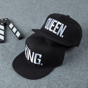 King-And-Queen-Letter-Snapback-Hats-Hip-Hop-Adjustable-Bboy-Baseball-Cap-Unisex
