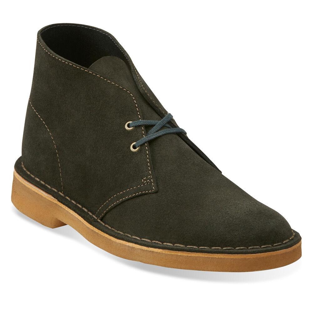 Para Mujer Clarks Original Desierto botas Loden Loden Loden Gamuza verde 26111471  más descuento