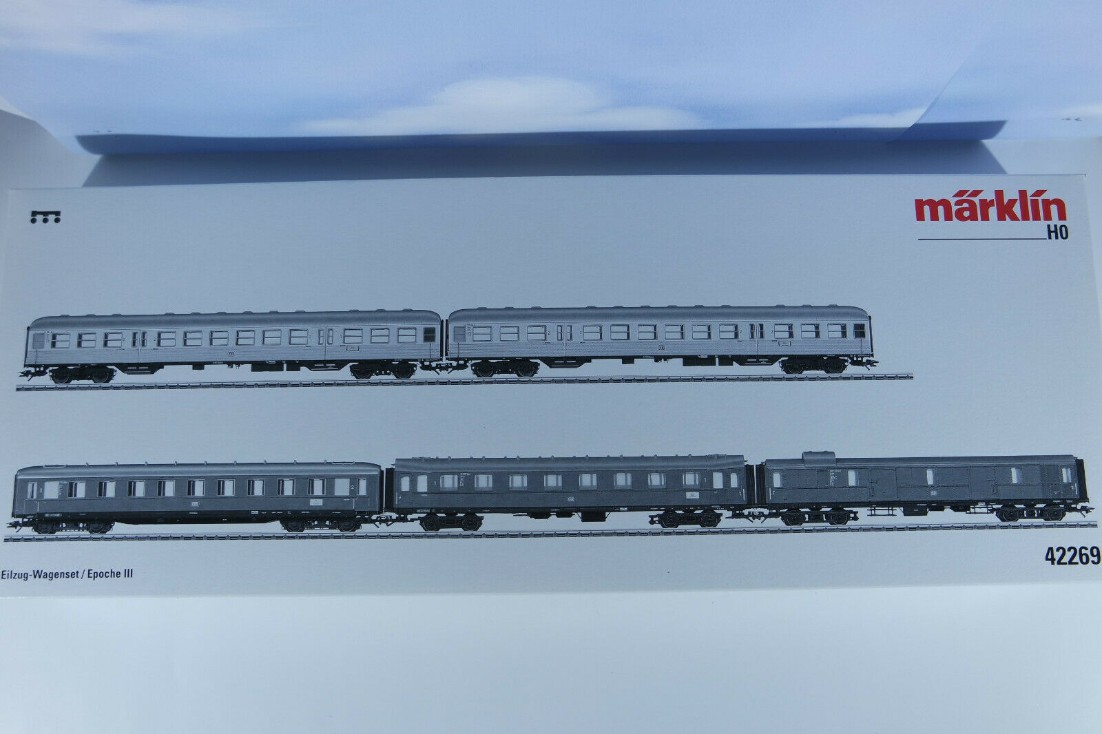 Märklin 42269 wagenset vestuarios, sin usar, Neuw, utilizada, embalaje original