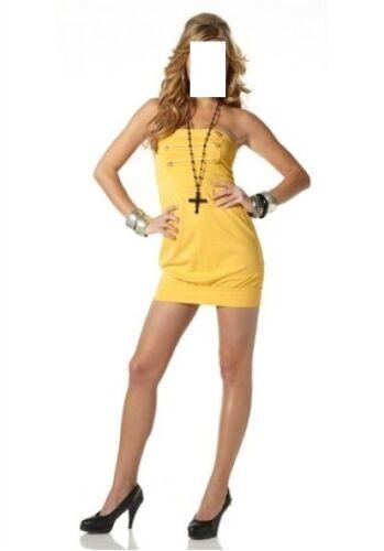 Goldene Zierknöpfe,Gr.34 Kleid Goldbuttons,MELROSE,mit abnehmbaren Trägern