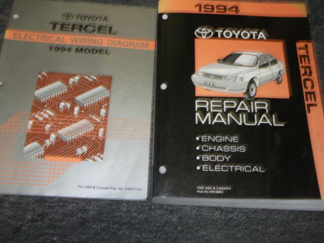 1996 Toyota Tercel Service Shop Repair Set Oem Service And The Electrical Wiring Diagrams Full