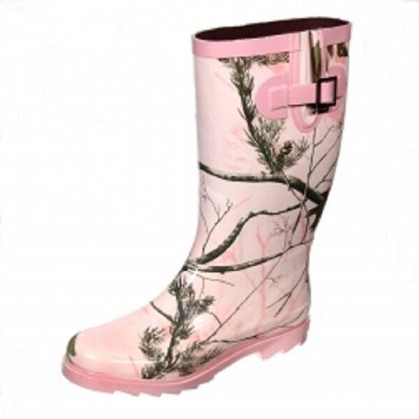 Realtree Girl Pink Ladies Camo Rainboots, Camouflage Rain Boots