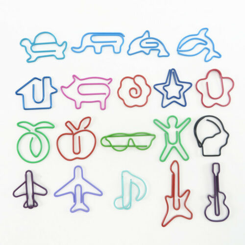 20pcs Cartoon Animal Shape Paper Clips metal Creative Colorful Clip Bookmarks