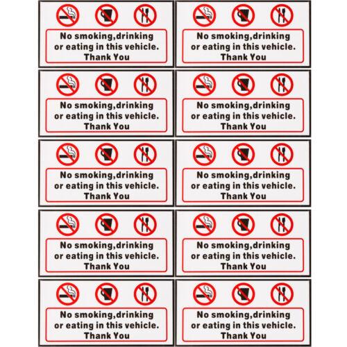 1//5//10pcs No Smoking Signs Sticker Car Van Bus Vinyl Decal Warning Tip