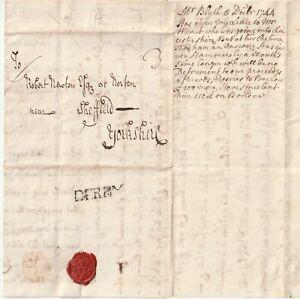 1744-DERBY-PMK-DY120-LETTER-BENJAMIN-BLYTH-TO-ROBERT-NEWTON-NORTON-SHEFFIELD