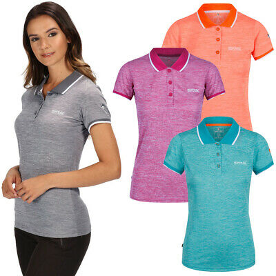 Regatta Women/'s Remex II Polo Neck T-Shirt Pink