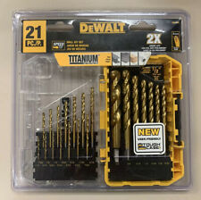 Dewalt Dw1342 21 Pieces Titanium Tip Drill Bit Set For Sale Online Ebay
