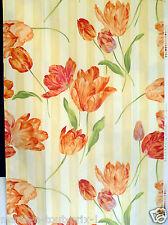 Coupon tissu de déco ameublement haut de gamme 116cm x 72cm TULIPES orange