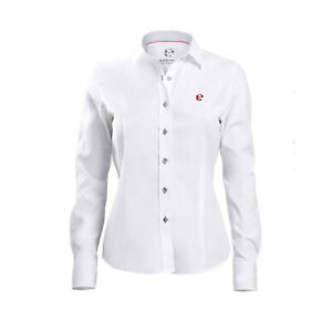 DaGallo Oxford Shirt Gr. 38 Damen Hemd langärmlig figurbetont M weiß Baumwolle