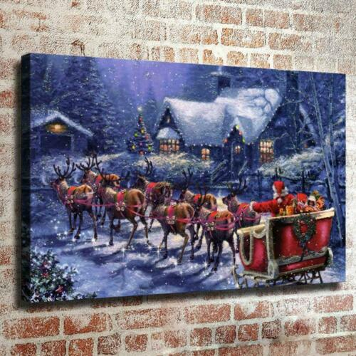 """Victorian Christmas HD Canvas print Painting Home Decor Picture Wall art 16/""""x26/"""""""