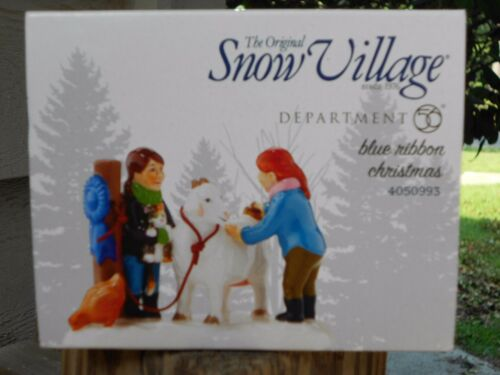 DEPT 56 SNOW VILLAGE BLUE RIBBON CHRISTMAS NIB