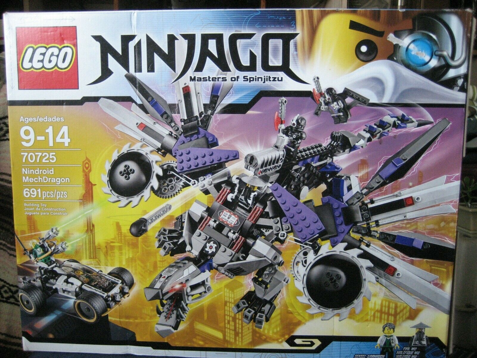 LEGO Ninjago Master of Spinjitzu  Nindroid MechDragon  70725......NEW