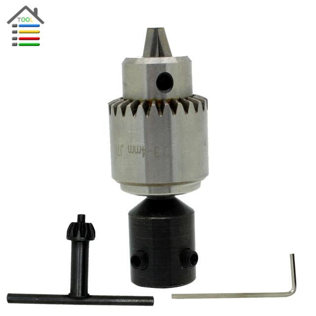 1pcs 0.3-4mm JT0 Drill Chucks Mount Taper w/8mm Drill Shaft Rotary Tools