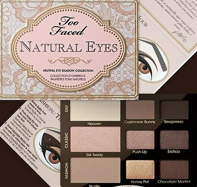 Too Faced NATURAL EYES Neutral Shadow Collection ~ DELIGHTFUL BEAUTY