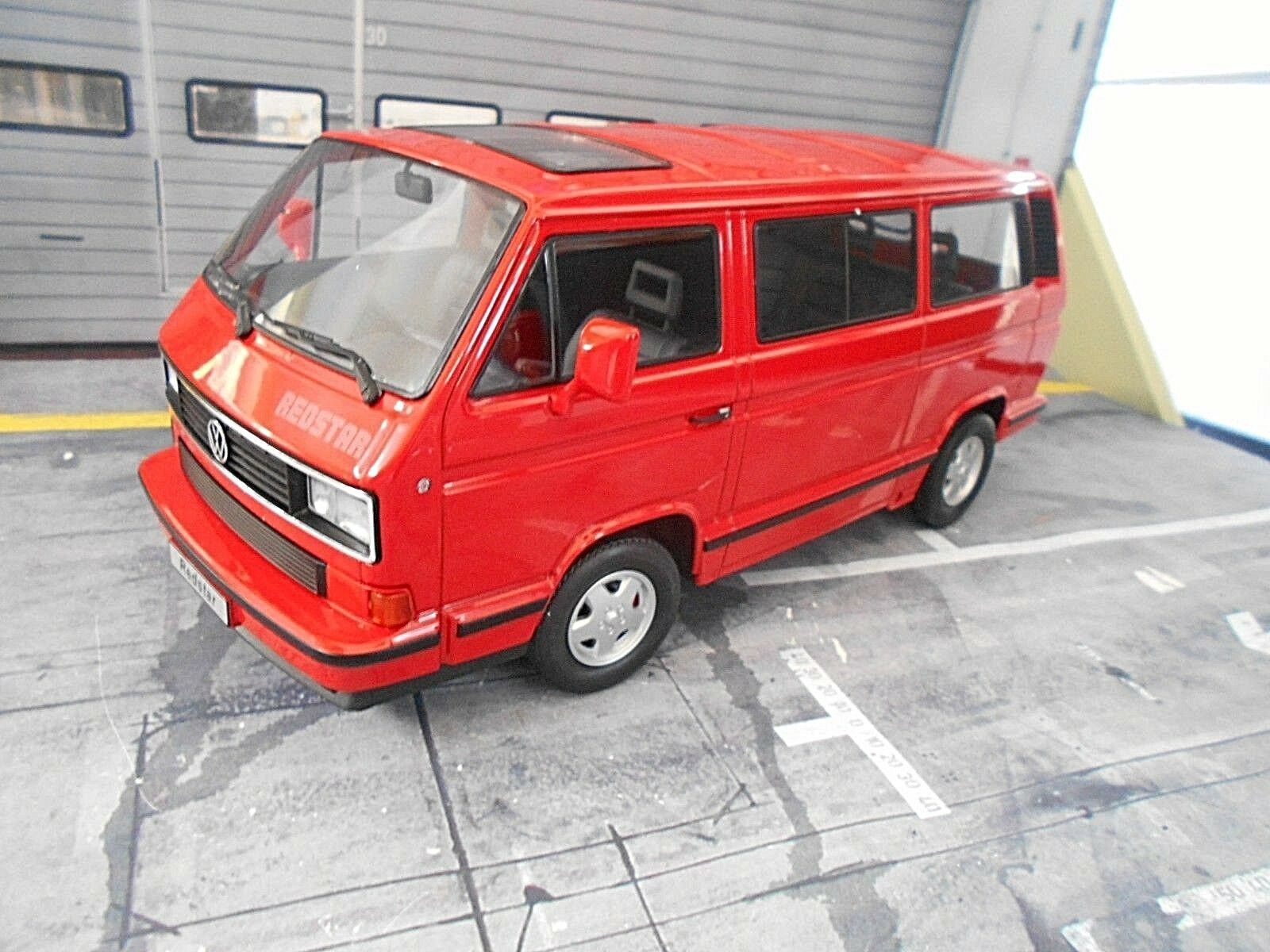 VW VOLKSWAGEN BUS t3 Multivan rosso STAR rosso ROSSO 1993 Diecast KK 1/500 NEW 1:18