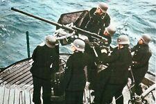 Photo WW2 - Equipe de pièce DCA sur un U-Boote allemand
