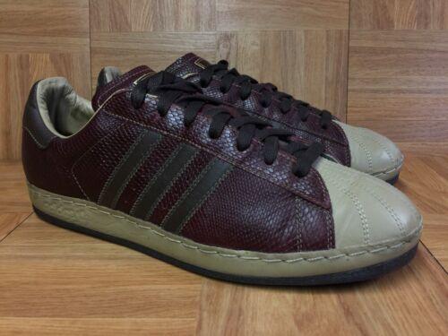 en 5 11 Sneakkin Zapatillas Superstar Burgundy 1 Adidas piel de Raras Lux serpiente TRw77