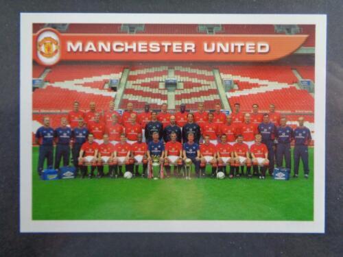 Team Photo Manchester United #270 Merlin Premier League 2001