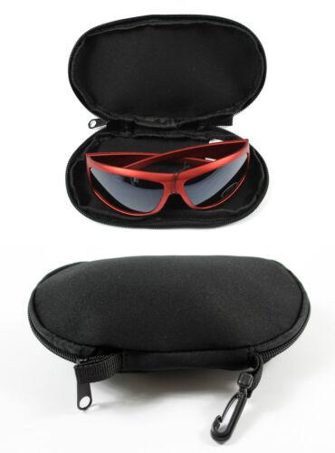 Bolsa Con llevar Clip Ideal Para Vacaciones Negro Acolchado Gafas De Sol Gafas Funda