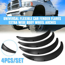 2pc Universal Car Flexible Fender Flares Durable Over Fenders Wheel Arches Black