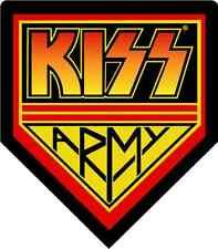 "KISS Army Music Bumper Sticker 5"" x 5"""
