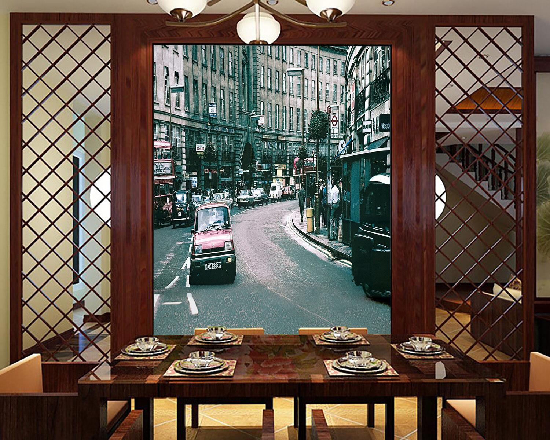 3D City Roadside Tall Building 28 Wall Paper Wall Print Decal Wall AJ Wall Paper