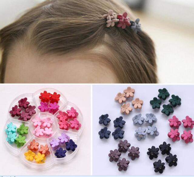 30PCS Hairpin Small Flowers Gripper Children Hair Clip Bangs Hair Accessories