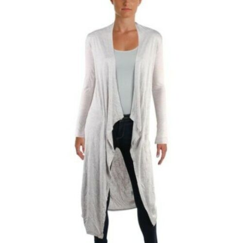 Aveto Duster Sweater BLUE Open Front Long Cardigan Jr Medium Thin Knit NWT $49