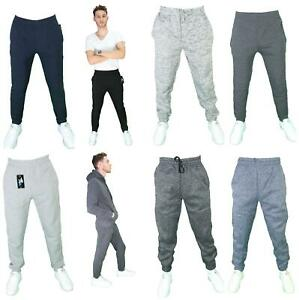 Mens-THICK-Casual-Jogger-active-Sweatpants-Cotton-Fleece-INVISIBLE-DRAWSTRING