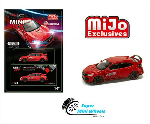 Mini GT 2017 Honda Civic Type R FK8 Time Attack Challenge 1:64 Red