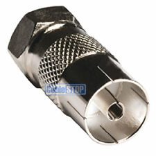 FEMALE COAX SOCKET to F TYPE MALE PLUG TV Aerial Sky Connector Adapter