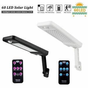 60-LED-Luz-Solar-Regulable-Wall-Street-Sensor-De-Movimiento-Infrarrojo-Pasivo-nos-Al-Aire-Libre
