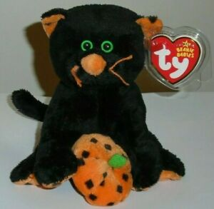 Ty Beanie Baby - SUPERSTITION the Halloween Black Cat - MINT with MINT TAGS