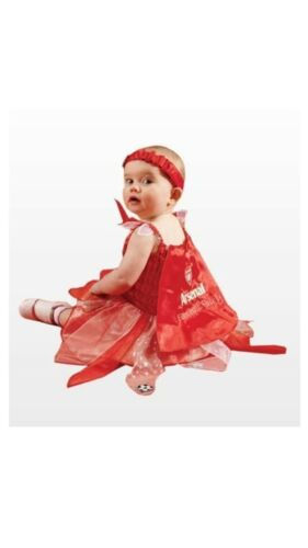 ARSENAL RED BABY FOOTBALL FAIRY FANCY DRESS OUTFIT COSTUME OFFICIAL PRODUCT